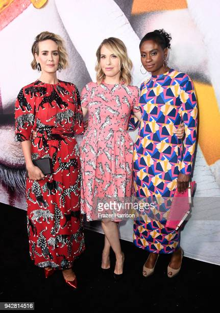 "Sarah Paulson, Leslie Grossman and Adina Porter attend the ""American Horror Story: Cult"" For Your Consideration Event at The WGA Theater on April 6,..."