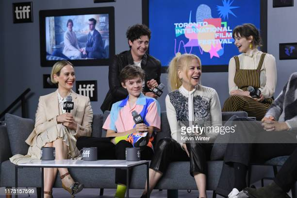 Sarah Paulson Oakes Fegley Aneurin Barnard Nicole Kidman and Ashleigh Cummings attend The Goldfinch press conference during the 2019 Toronto...