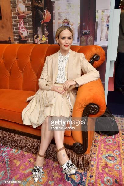 Sarah Paulson stops by AT&T ON LOCATION during Toronto International Film Festival 2019 at Hotel Le Germain on September 08, 2019 in Toronto, Canada.