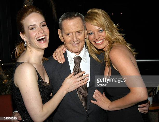 Sarah Paulson Tony Randall and Jeri Ryan during 2003 Tribeca Film Festival 'Down With Love' After Party at The Winter Garden in the World Financial...