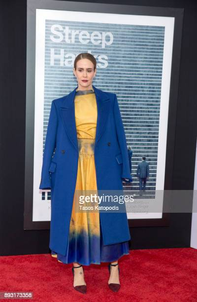 Sarah Paulson ttends the 'The Post' Washington DC Premiere at The Newseum on December 14 2017 in Washington DC