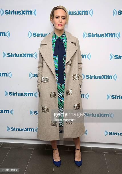 Sarah Paulson visits at SiriusXM Studio on October 7 2016 in New York City