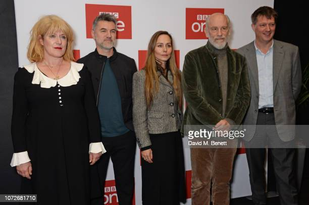 Sarah Phelps Alex Gabassi Tara Fitzgerald John Malkovich and James Prichard attend a special screening of new BBC One drama 'The ABC Murders' at the...