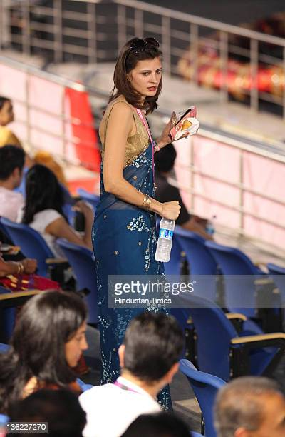 Sarah Pilot wife of Congress MP Sachin Pilot at the Opening ceremony of 19th Commonwealth Games held at Jawahar Lal Nehru Stadium in New Delhi India...