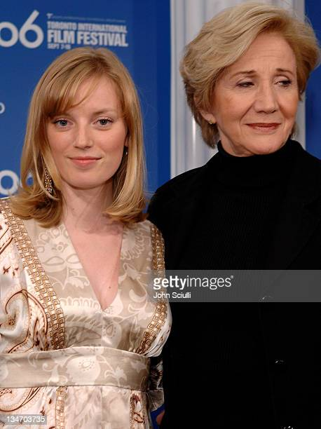 Sarah Polley and Olympia Dukakis during 31st Annual Toronto International Film Festival 'Away From Her' Press Conference at Sutton Place in Toronto...
