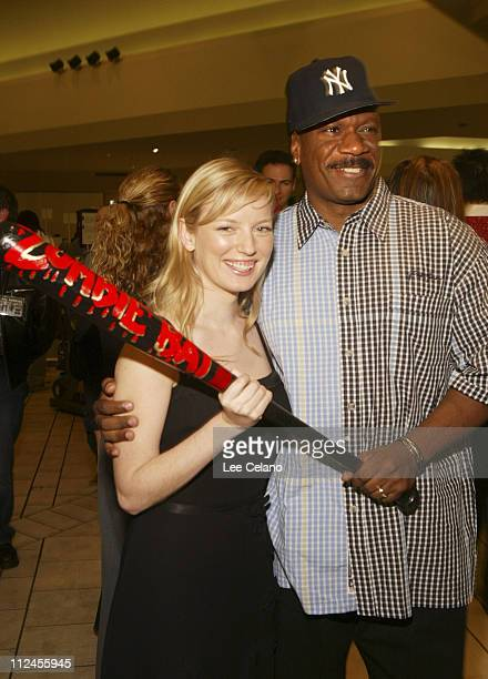 Sarah Polley and Ving Rhames during 'Dawn of the Dead' Los Angeles Premiere Red Carpet at Cineplex Beverly Center Theatres in Los Angeles California...