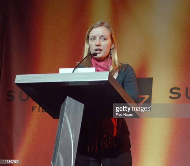 Sarah Polley during 2007 Sundance Film Festival Awards Ceremony Show at Raquet Club Theatre in Park City Utah United States