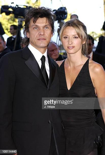 Sarah Poniatowski and Marc Lavoine during 2003 Cannes Film Festival Le Temp Du Loup Premiere at Palais Des Festival in Cannes France