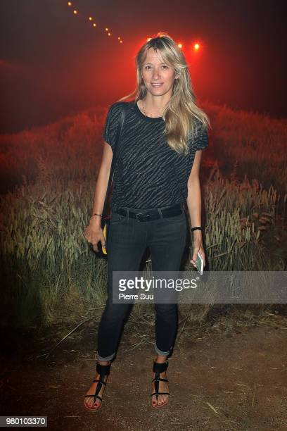 Sarah Poniatowski attends the Ami Alexandre Mattiussi Menswear Spring/Summer 2019 show as part of Paris Fashion Week on June 21 2018 in Paris France
