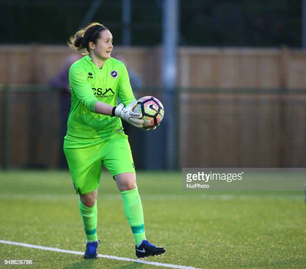 Sarah Quantrill of Millwall Lionesses L during FA Women's Super League 2 match between Millwall Lionesses and Aston Villa Ladies FC at St Paul's...