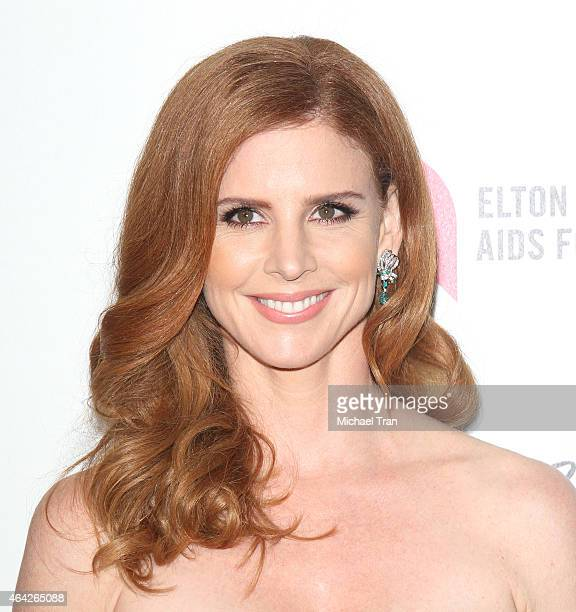 Sarah Rafferty arrives at the 23rd Annual Elton John AIDS Foundation Academy Awards viewing party held at The City of West Hollywood Park on February...