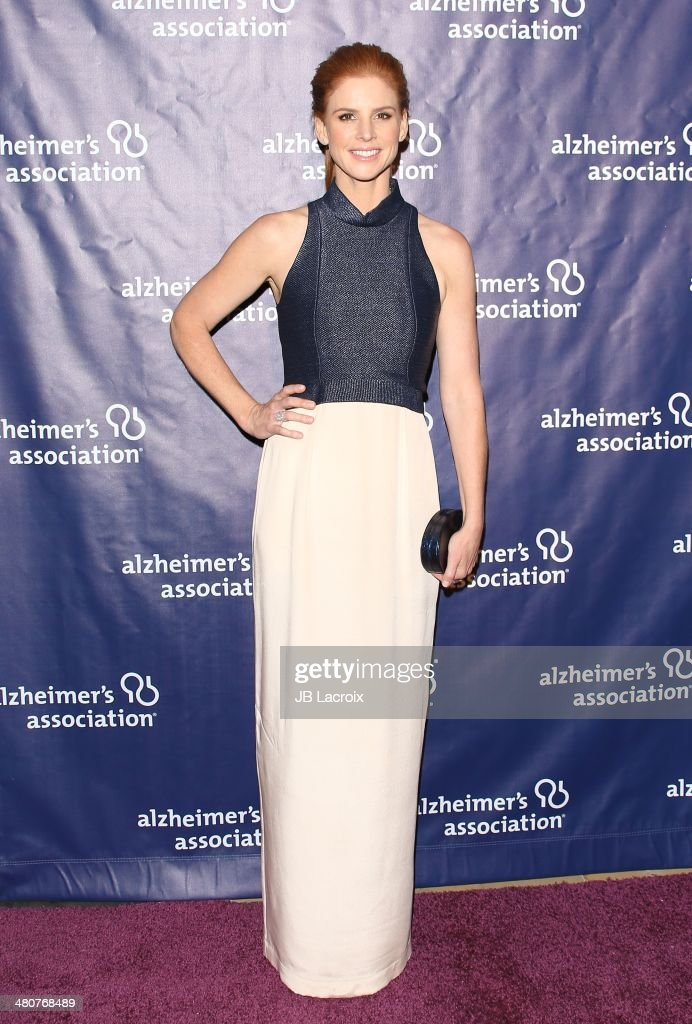 Sarah Rafferty attends 'A Night At Sardi's' To Benefit The Alzheimer's Association held at the Beverly Hitlon Hotel on March 26, 2014 in Beverly Hills, California.