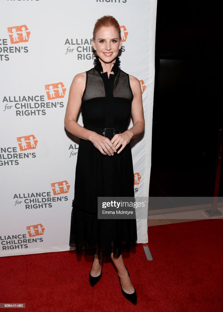 Sarah Rafferty attends The Alliance For Children's Rights 26th Annual Dinner at The Beverly Hilton Hotel on March 28, 2018 in Beverly Hills, California.