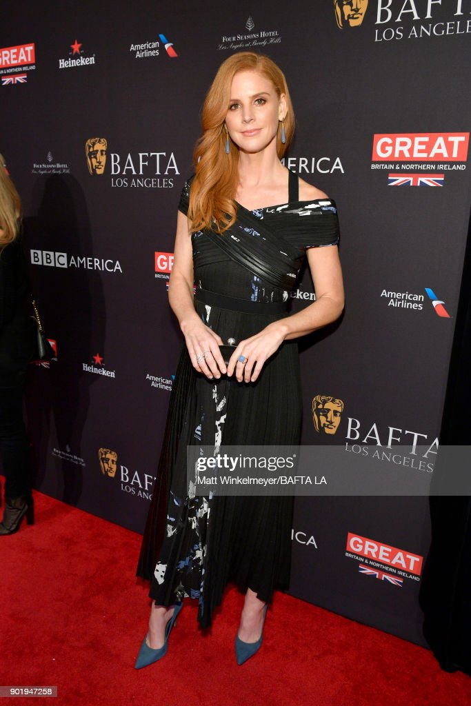 Sarah Rafferty attends The BAFTA Los Angeles Tea Party at Four Seasons Hotel Los Angeles at Beverly Hills on January 6, 2018 in Los Angeles, California.