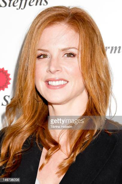 Sarah Rafferty attends the Carmen Steffens U.S. West coast flagship store opening at Hollywood & Highland Center on August 2, 2012 in Hollywood,...