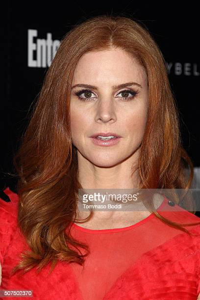 Sarah Rafferty attends the Entertainment Weekly's Celebration Honoring The 2016 SAG Awards Nominees held at Chateau Marmont on January 29 2016 in Los...