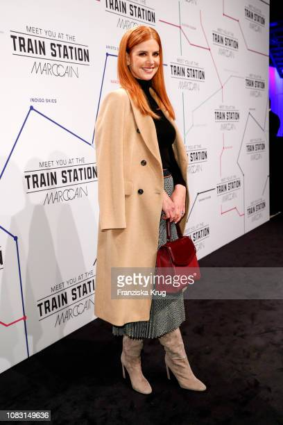 Sarah Rafferty during the Marc Cain Fashion Show Autumn/Winter 2019 at Deutsche Telekom's representative office on January 15, 2019 in Berlin,...