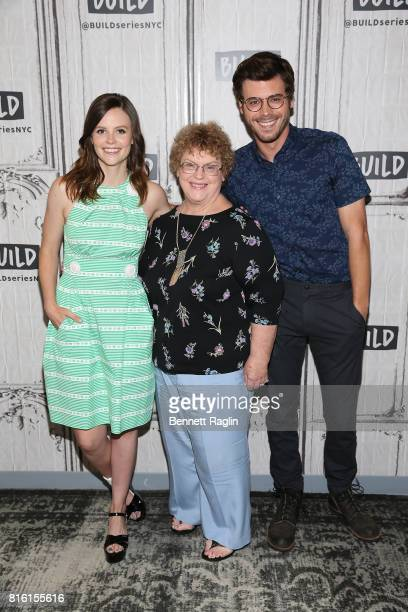 Sarah Ramos Charlaine Harris and Francois Arnaud attend Build to discuss 'Midnight Texas' at Build Studio on July 17 2017 in New York City