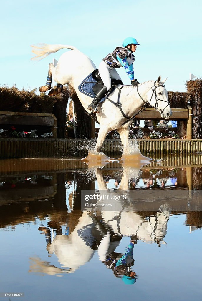 Sarah Ray of Australia riding Irish Mist competes in the Cross Country during the Melbourne International Three Day Event at Werribee Park Mansion and the National Equestrian Centre on June 9, 2013 in Melbourne, Australia.