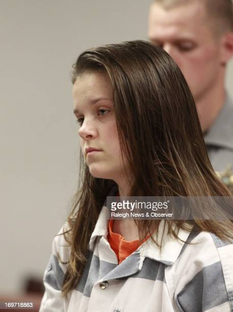 Sarah Rene Redden makes her first appearance at the Wake County Courthouse Wednesday May 22 in Raleigh North Carolina after being charged with the...