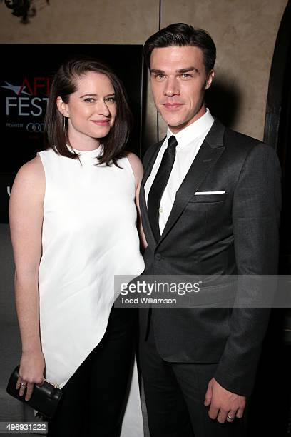 Sarah Roberts and actor Finn Wittrock attend the after party for the closing night gala premiere of Paramount Pictures' The Big Short during AFI FEST...