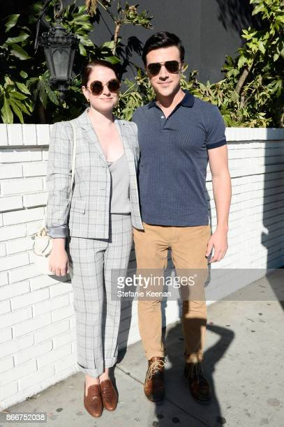 Sarah Roberts and Finn Wittrock attend CFDA/Vogue Fashion Fund Show and Tea at Chateau Marmont at Chateau Marmont on October 25 2017 in Los Angeles...