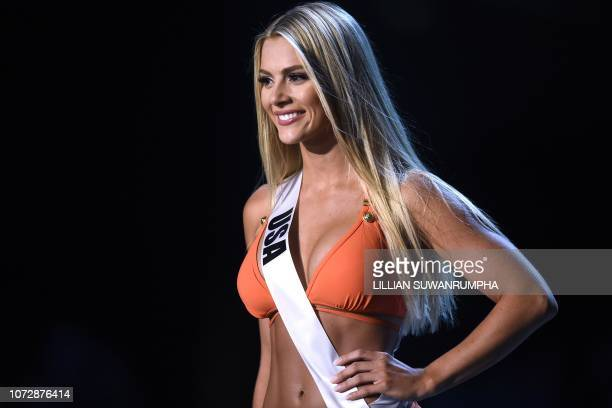 Sarah Rose Summers of the United States competes in the swimsuit competition during the 2018 Miss Universe pageant in Bangkok on December 13 2018