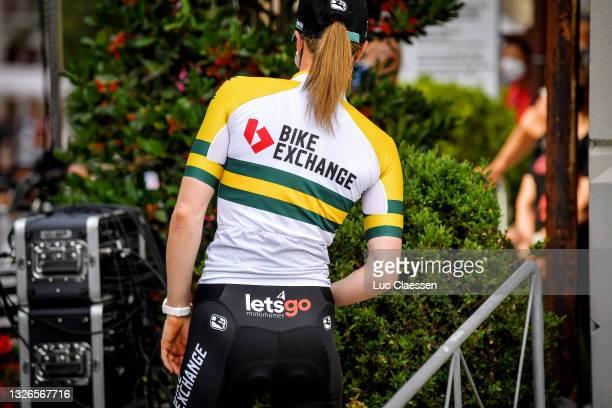 Sarah Roy of Australia and Team BikeExchange during the 32nd Giro d'Italia Internazionale Femminile 2021 - Team Presentation / #GiroDonne / #UCIWWT /...