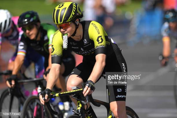 Sarah Roy of Australia and Team MitcheltonScott / Feeding / during the 4th Madrid Challenge by la Vuelta Stage 2 a 1003km stage from Madrid to Madrid...