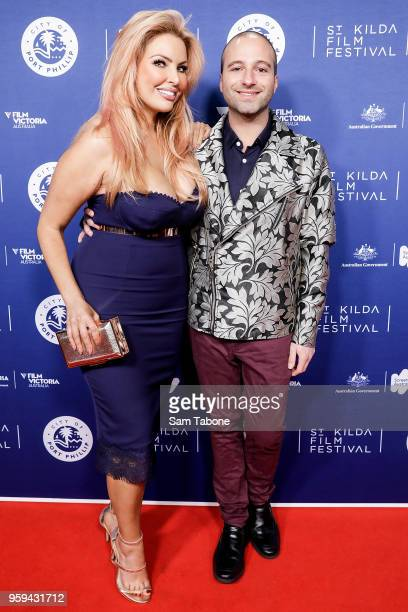 Sarah Roza and Harry T arrives for St Kilda Film Festival 2018 Opening Night on May 17 2018 in Melbourne Australia