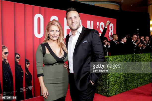 Sarah Roza and James Stephens attends the Ocean's 8 Melbourne Premiere on June 5 2018 in Melbourne Australia