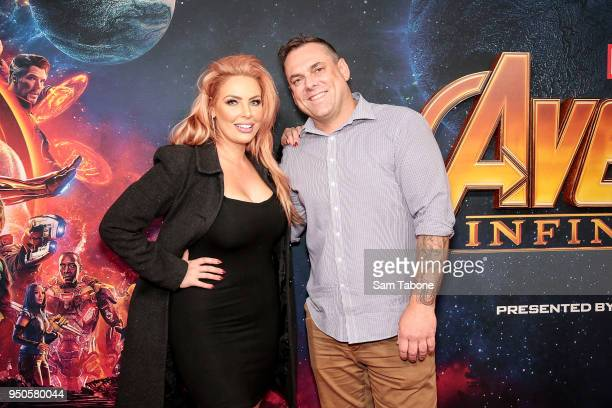 Sarah Roza and Sean Donnelly attends the Avengers Infinity War Special Event Screening on April 24 2018 in Melbourne Australia