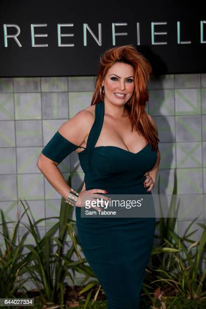 Sarah Roza arrives ahead of the Greenfields Cocktail Launch Event on February 23 2017 in Melbourne Australia