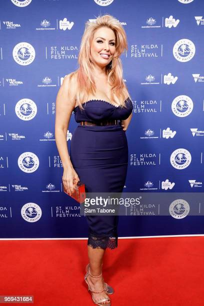 Sarah Roza arrives for St Kilda Film Festival 2018 Opening Night on May 17 2018 in Melbourne Australia