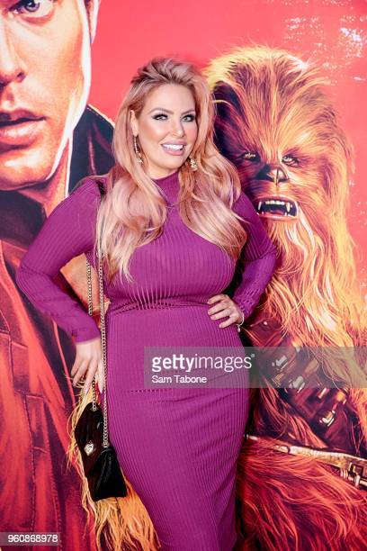 Sarah Roza attends Solo A Star Wars Story Screening on May 21 2018 in Melbourne Australia
