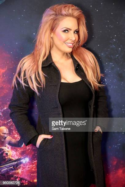 Sarah Roza attends the Avengers Infinity War Special Event Screening on April 24 2018 in Melbourne Australia