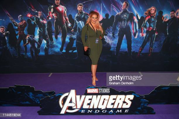 Sarah Roza poses ahead of the special screening of Marvel Studios' Avengers Endgame at IMAX Melbourne Museum on April 23 2019 in Melbourne Australia
