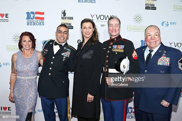 Sarah Rudder Michael Kacer Bridget Moynahan Aaron Mankin and Israel Del Toro attend The New York Comedy Festival and The Bob Woodruff Foundation...