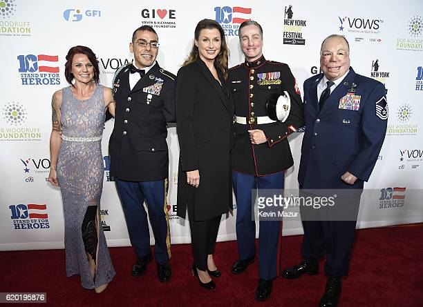 Sarah Rudder Michael Kacer Bridget Moynahan Aaron Mankin and Israel Del Toro attend as The New York Comedy Festival and The Bob Woodruff Foundation...