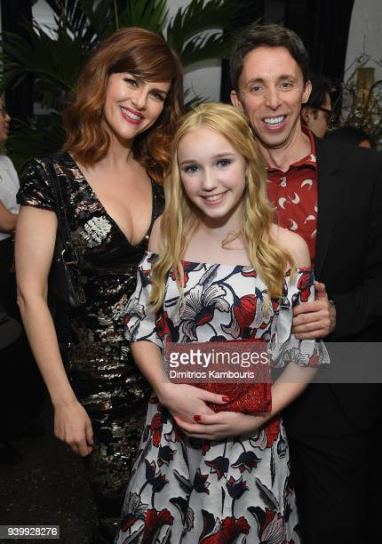 Sarah Rue Avi Lake and Kevin Cahoon attend the Netflix Premiere of 'A Series of Unfortunate Events' Season 2 on March 29 2018 in New York City