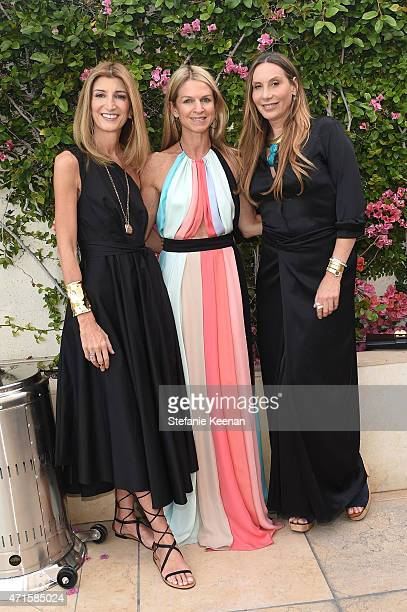 Sarah Rutson Crystal Lourd and Jacqui Getty attend Crystal Lourd and Jacqui Getty Welcome NETAPORTER's Sarah Rutson To LA at Sunset Tower Hotel on...