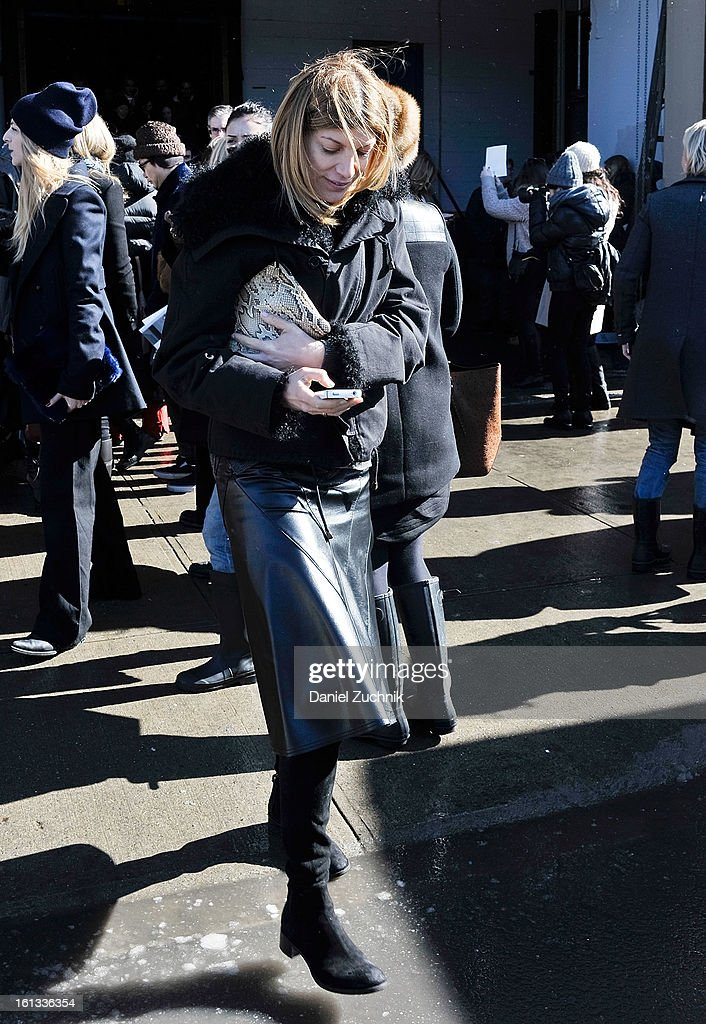 Sarah Rutson is seen outside the Prabal Gurung show on February 9, 2013 in New York City.