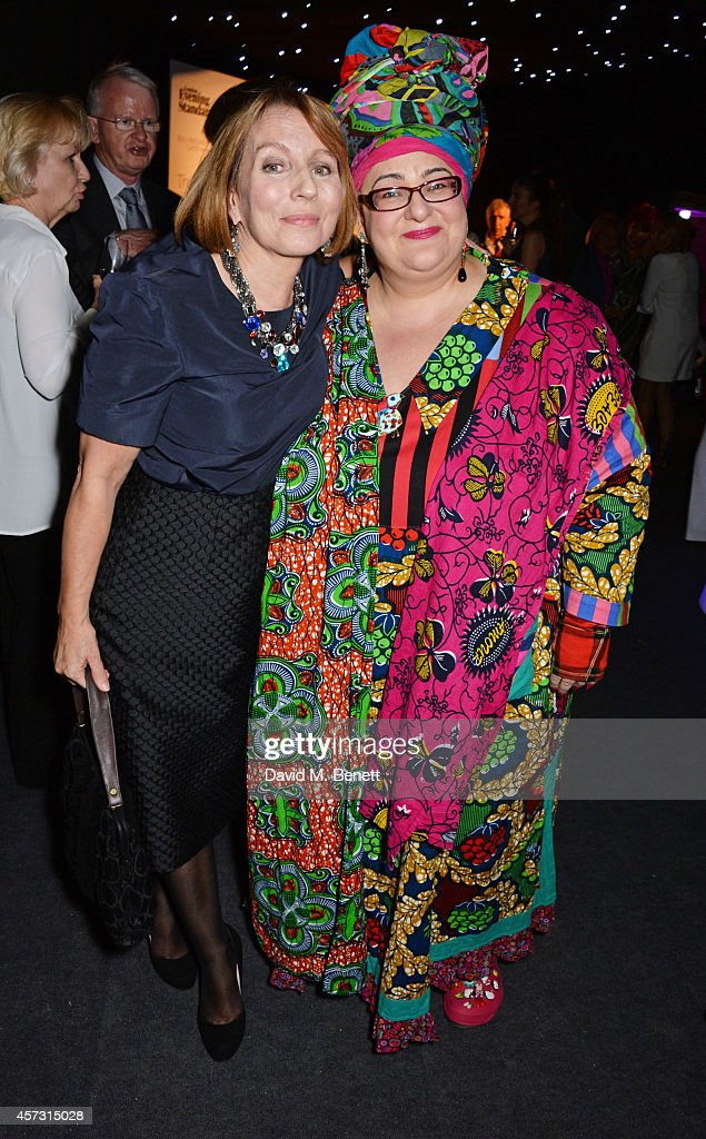 Sarah Sands (L), editor of the London Evening Standard, and Camila Batmanghelidjh attend the London Evening Standard's '1000: London's Most Influential People' at The Francis Crick Institute on October 16, 2014 in London, England.