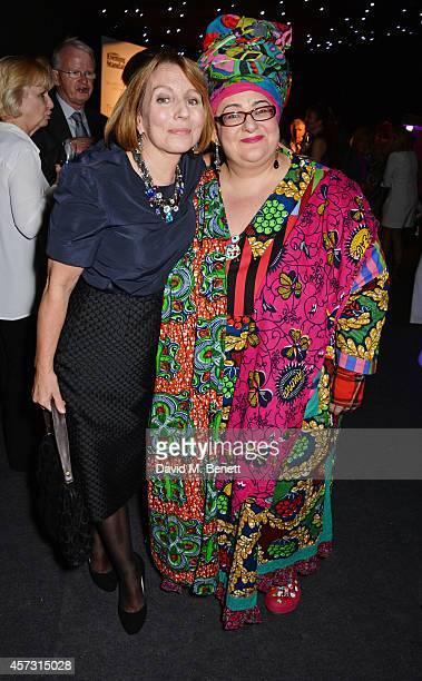 Sarah Sands , editor of the London Evening Standard, and Camila Batmanghelidjh attend the London Evening Standard's '1000: London's Most Influential...