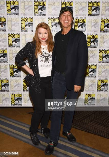 Sarah Schechter and Jon Goldwater attend the 'Riverdale' Press Line during ComicCon International 2018 at Hilton Bayfront on July 21 2018 in San...