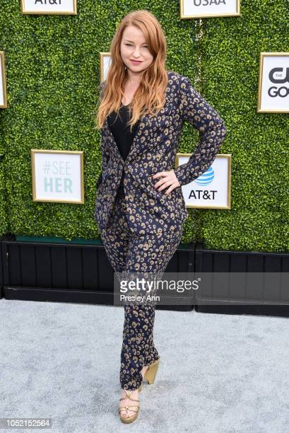 Sarah Schechter attends The CW Network's Fall Launch Event Arrivals at Warner Bros Studios on October 14 2018 in Burbank California
