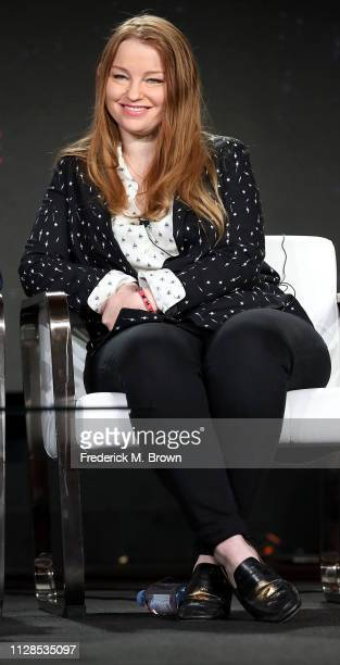 Sarah Schechter of the television show Doom Patrol speaks during the Warner Bros segment of the 2019 Winter Television Critics Association Press Tour...