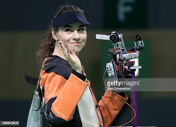 Sarah Scherer of the United States competes in the 10m Air Rifle Women's Finals on Day 1 of the Rio 2016 Olympic Games at the Olympic Shooting Centre...