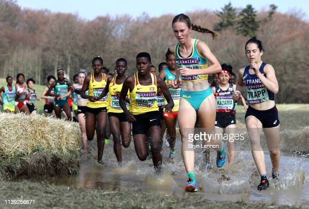 Sarah Schiffmann of Australia competes in the Women's U20 Final during the IAAF World Athletics Country Championships on March 30 2019 in Aarhus...