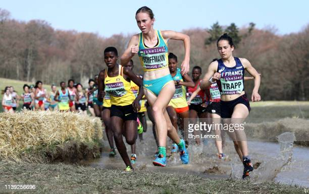 Sarah Schiffmann of Australia competes in the Women's U20 Final during the IAAF World Athletics Country Championships on March 30, 2019 in Aarhus,...